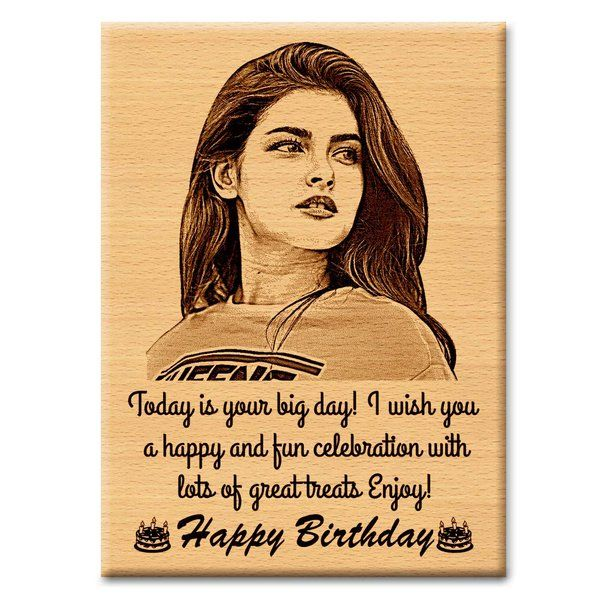 Buy Incredible Gifts'S Incredible Gifts Wooden Happy Birthday Unique Personalized Gift  from HalfCute online