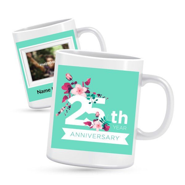 Privy Express 25th Anniversary Special Photo Mug Personalized Anniversary Gifts