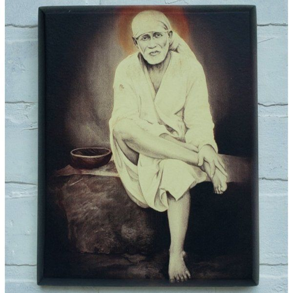 Estudiointernational Sai Baba Painting Stone Corporate Gift Ideas