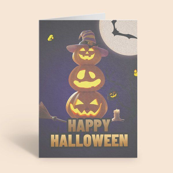 Privy Express Light up Triple Stacked Harry Potter Theme Halloween Greeting Card Best Halloween Greeting Cards