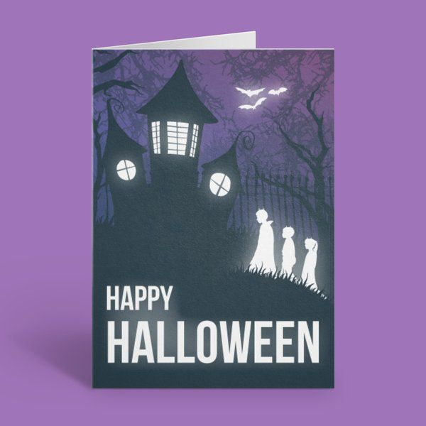 Privy Express Haunted House Party Halloween Invitation Card Best Halloween Greeting Cards