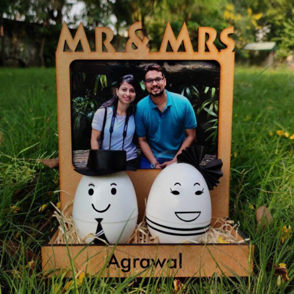 Zoci Voci A Happy Marriage Couple Lamp for Anniversary Gift Personalized Anniversary Gifts