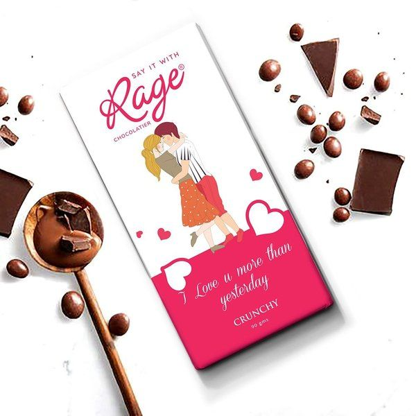 Rage Chocolatier I Love You More Than Yesterday  Personalized Anniversary Gifts
