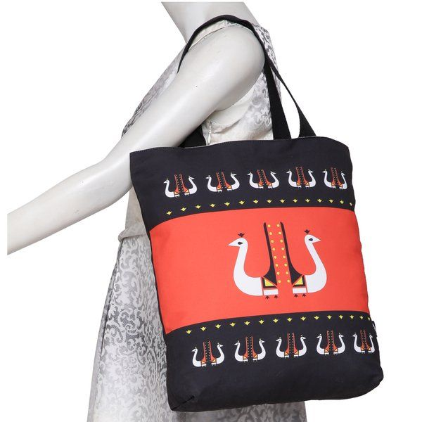 Axta Designs Peacock Design Tote Bag Personalized Anniversary Gifts