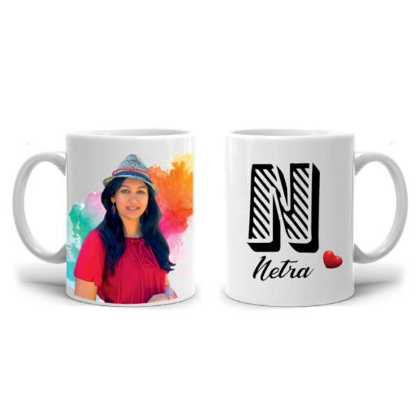 Zoci Voci Colorful Photo Mug with Name Personalized Anniversary Gifts