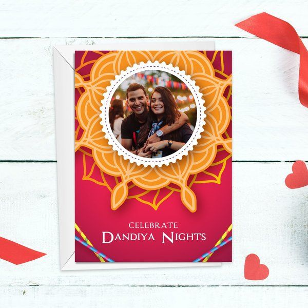Dandiya Nights Navratri Greeting Card