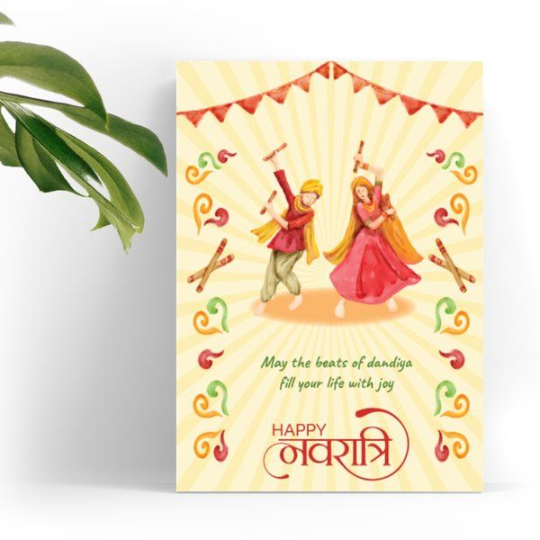 Navratri greeting card