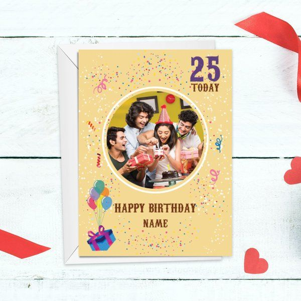 Privy Express Birthday Year Personalized Party Theme Greeting Card Birthday Gifts For Men