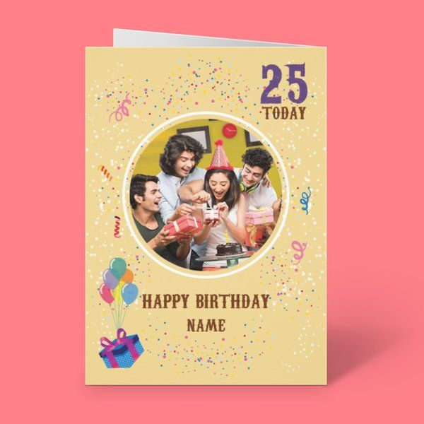 Privy Express Birthday Year Personalized Party Theme Greeting Card Birthday Gifts For Male Friend