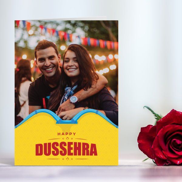 Personalised Happy Dussehra Wishes Greeting Card