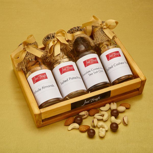 Jus'Trufs Chocolatiers Dryfruits With Chocolate Coated Almonds Hamper Anniversary Gifts
