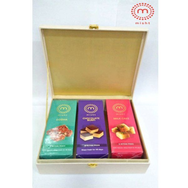 Misht Sweets Three Sweet Boxes Misht Hamper  Gifts For Girlfriend Marriage