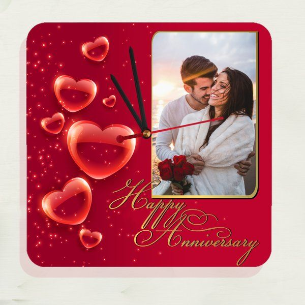Zoci Voci Nuptial Bliss Photo Frame Clock Simple Birthday Gifts For Boyfriend