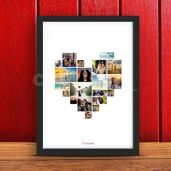 CherishX Heart Collage Photo Frame Photo Frame For Boyfriend On Birthday