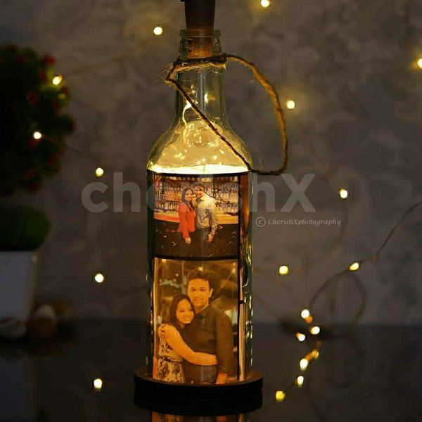 CherishX Personalised Led Photo Bottle Personalized Gifts For Birthday
