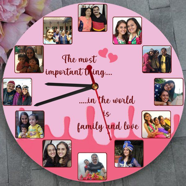 Zoci Voci Family Time Custom Wall Clock Personalized Anniversary Gifts