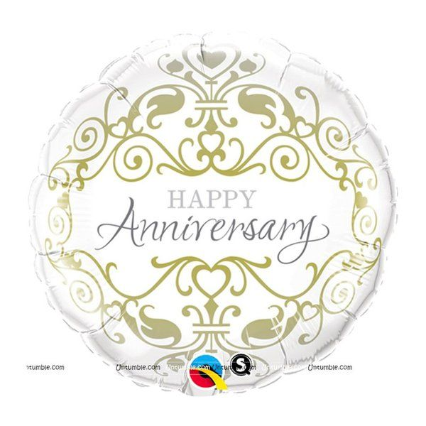 Untumble Happy Anniversary Foil Balloon 10th Anniversary Gift For Wife