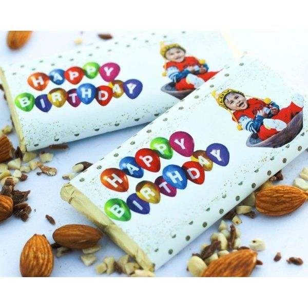 Privy Express Personalized Birthday Chocolate Bar With Photo  Birthday Gifts For Sister