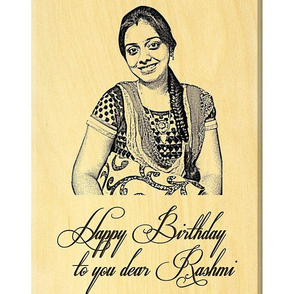 Incredible Gifts Birthday Present Ideas - Engraved Photo On Maple Wood  Birthday Photo Frames