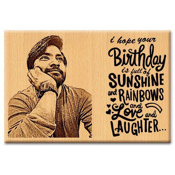 Personalized Wooden Happy Birthday Frame Birthday Gift Ideas for Brother