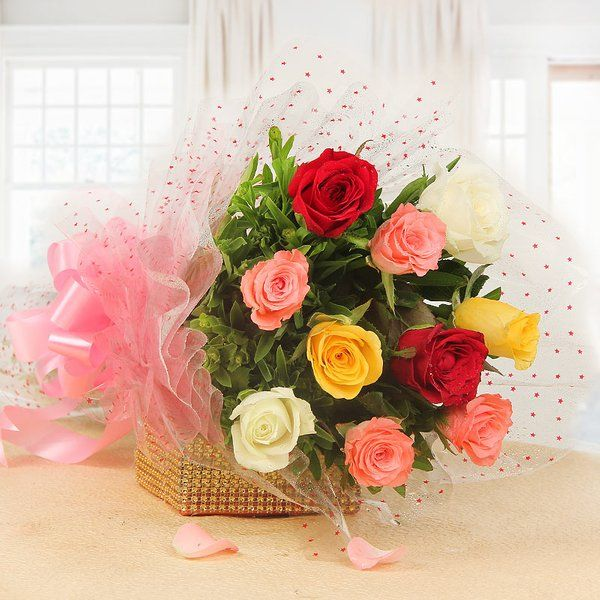 FlowerAura Perky Blooms Roses For Birthday
