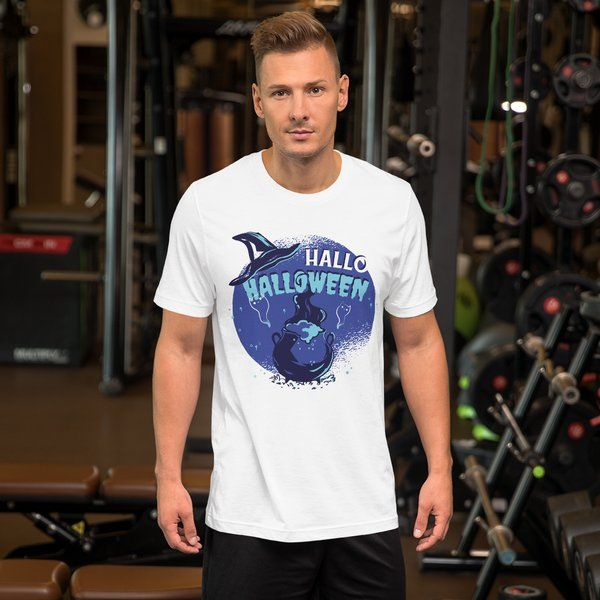 Privy Express Scary HALLO HALLOWEEN Witch Theme Costume T-shirt for Men Best Halloween Mens Costume Ideas