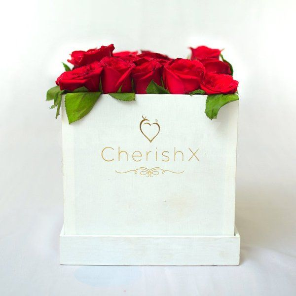 CherishX Tinted Rose Bucket Roses For Birthday