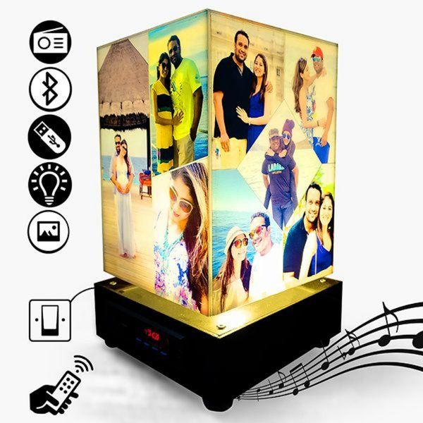 Rotating Personalized Lamp with Photos & Music