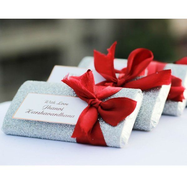 Privy Express Glittery Foam Ribbon Chocolate Bar Personalized Anniversary Gifts