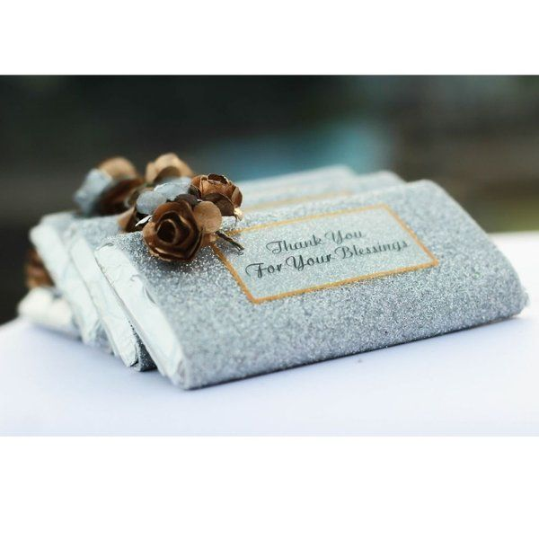 Privy Express Glittery Foam Rose Chocolate Bar Personalized Anniversary Gifts