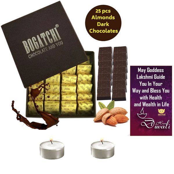 Bogatchi Badam Burfi With 2 T Lights And Diwali Greeting Anniversary Gifts For Boys