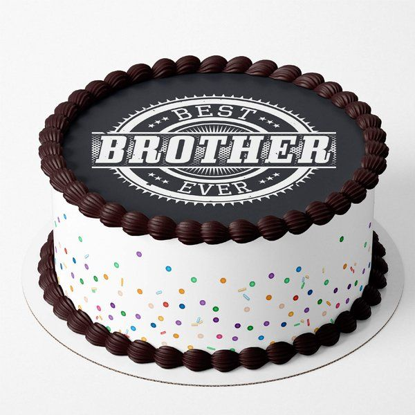 CakeZone Best Brother Ever Cake Personalized Photo Cakes