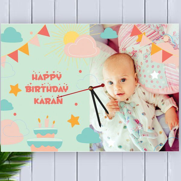 Zoci Voci Birthday Wishes Photo Clock Gifts For 1 Year Baby Girl