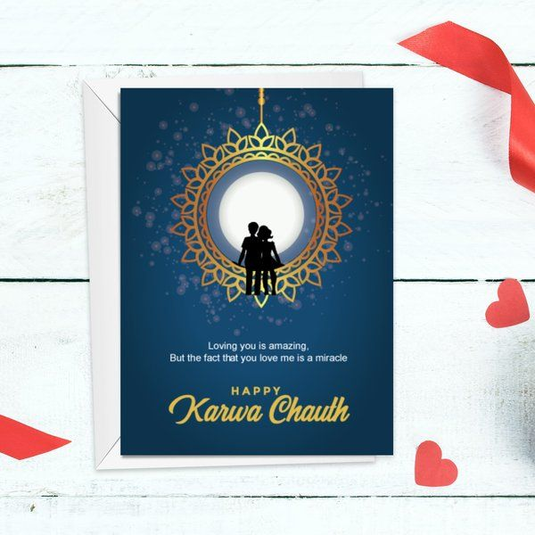 Privy Express Celebrate Karva Chauth with Love Greeting Card Karva Chauth Greeting Cards