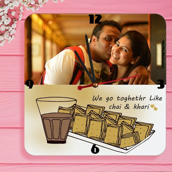 Chai Khari Personalized Wall Clocks with Pictures