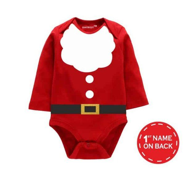 Knitroot Christmas Special Santa Costume Baby Romper Personalized Gifts For Daughter