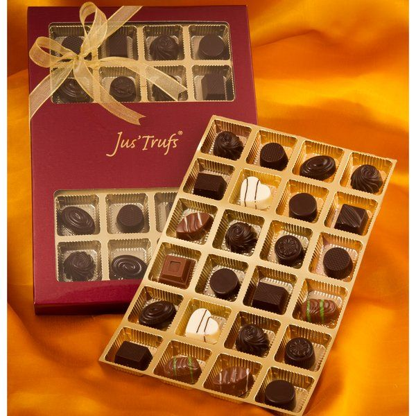 Jus'Trufs Chocolatiers Classic Truffle Gift Box Of 24 Cute Gifts For Sister