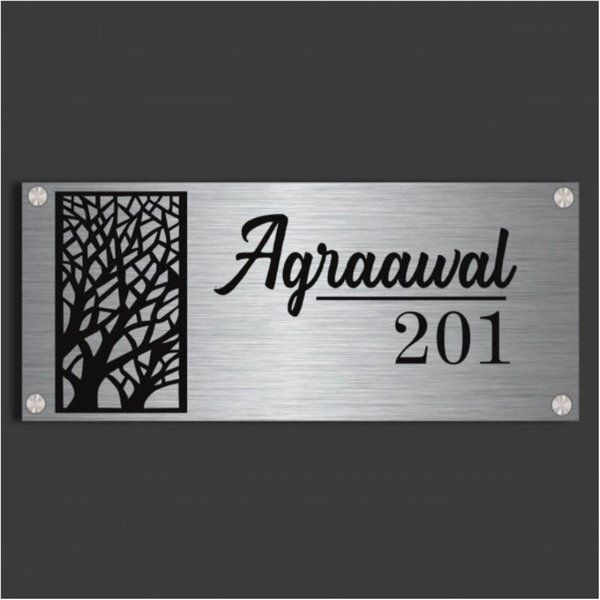 Zoci Voci Contemporary Tree Name Plate Personalized Gifts For Parents