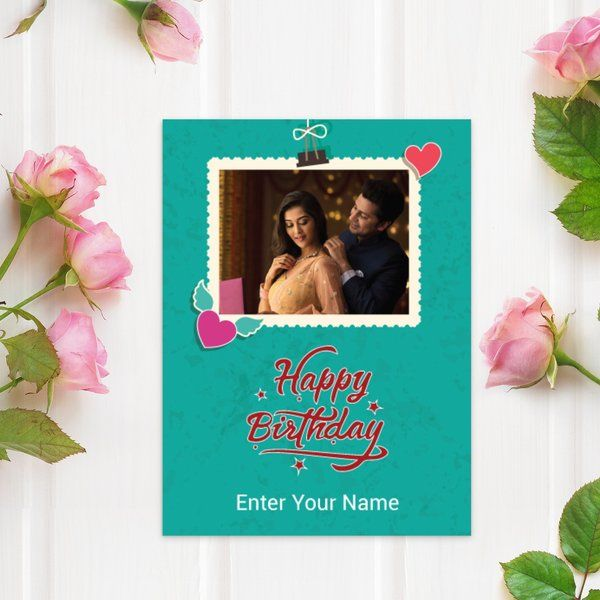 Privy Express Couple Photo and Name Personalized Birthday Wishes Greeting Card 25th Birthday Gift For Girlfriend