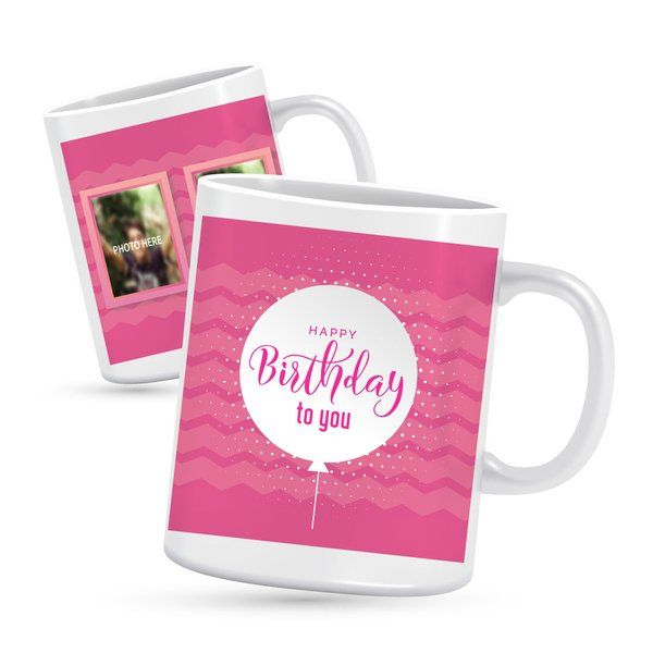 Privy Express Customisable Two Photo Birthday Mug Personalized Gifts For Him