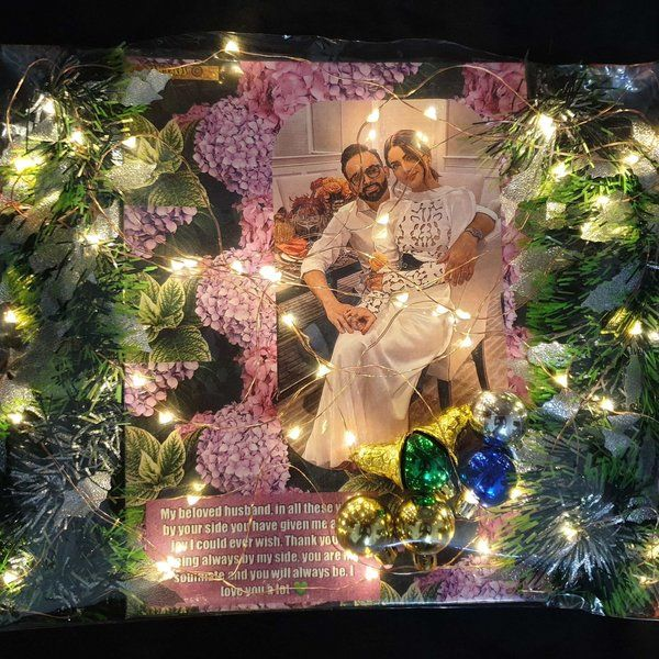 Yaay Cards Customised Photo Cards with Decorations Karva Chauth Greeting Cards