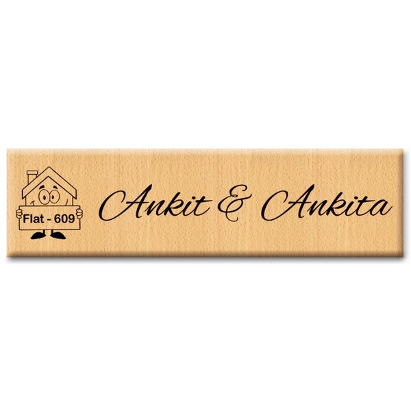 Customized Wooden Door Name Plates