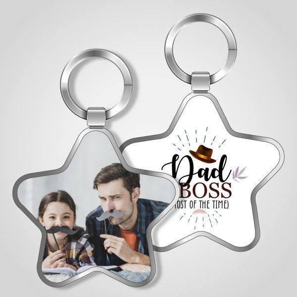 Privy Express Dad Boss Funny Keychain Dad Keychains