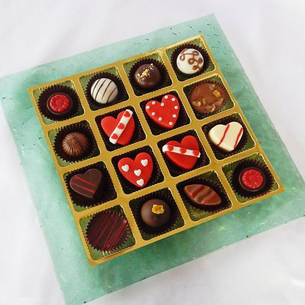 Jus'Trufs Chocolatiers Designer Platter With Valentine's Day Marzipan Joy Valentines Day Gifts For Her