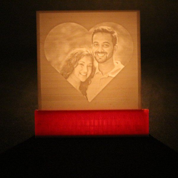 Soch3D Desktop Lithophane Lamp Long Distance Relationship Gifts