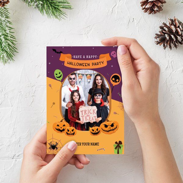 Halloween Personalized Wishes Greeting Card Gifts Below 50 Rupees