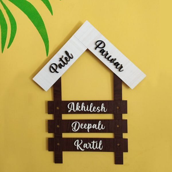 Zoci Voci Family Name Plate for Apartment and Bungalow Personalized Gifts For Family