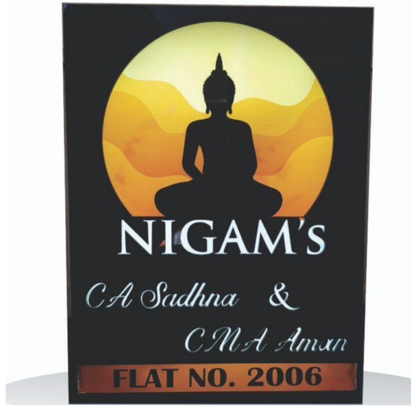Zoci Voci Gautam Buddha Name Plate Personalized Gifts For Family