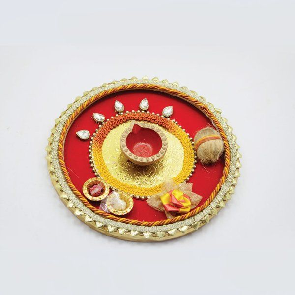 Hoods & Bonds Generic Puja Thali for Religious Rituals & Festivals Diwali Gifts For Friends