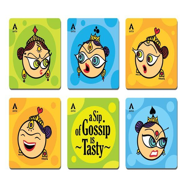 Axta Designs Gossip Queens Design Coasters- Set of 6 Anniversary Gifts For Sister